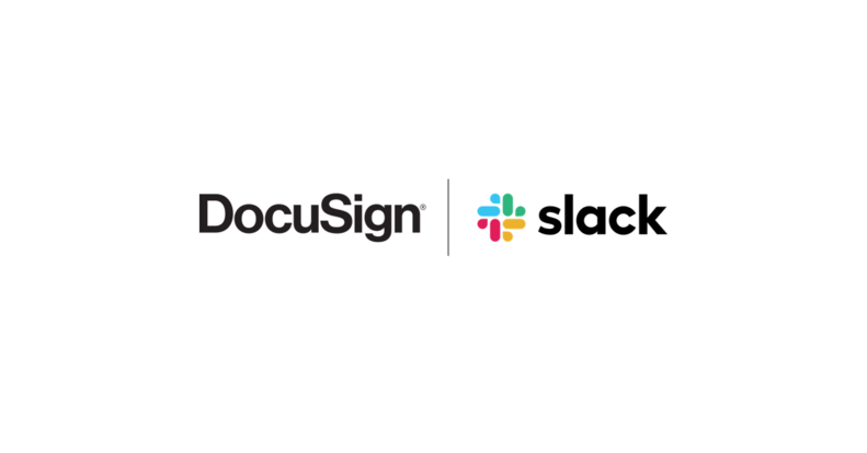 Logos de DocuSign et Slack