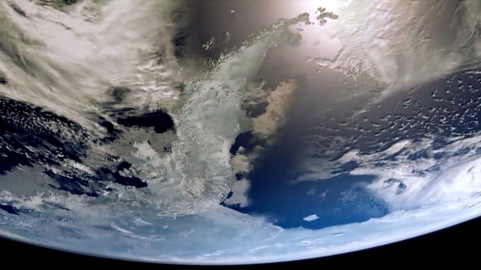 Une image de nuages recouvrant la Terre depuis l'espace