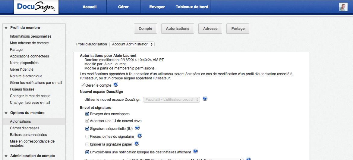 Gestion avancée de la plateforme de signature électronique DocuSign