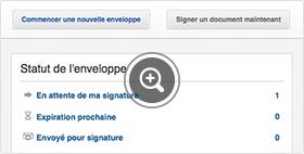 Téléchargement d'un document sur la plateforme signature électronique DocuSign