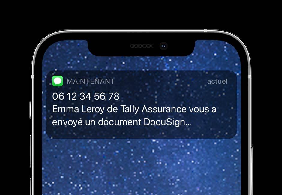 La fonction SMS de DocuSign eSignature vous permet d'envoyer des notifications en temps réel.