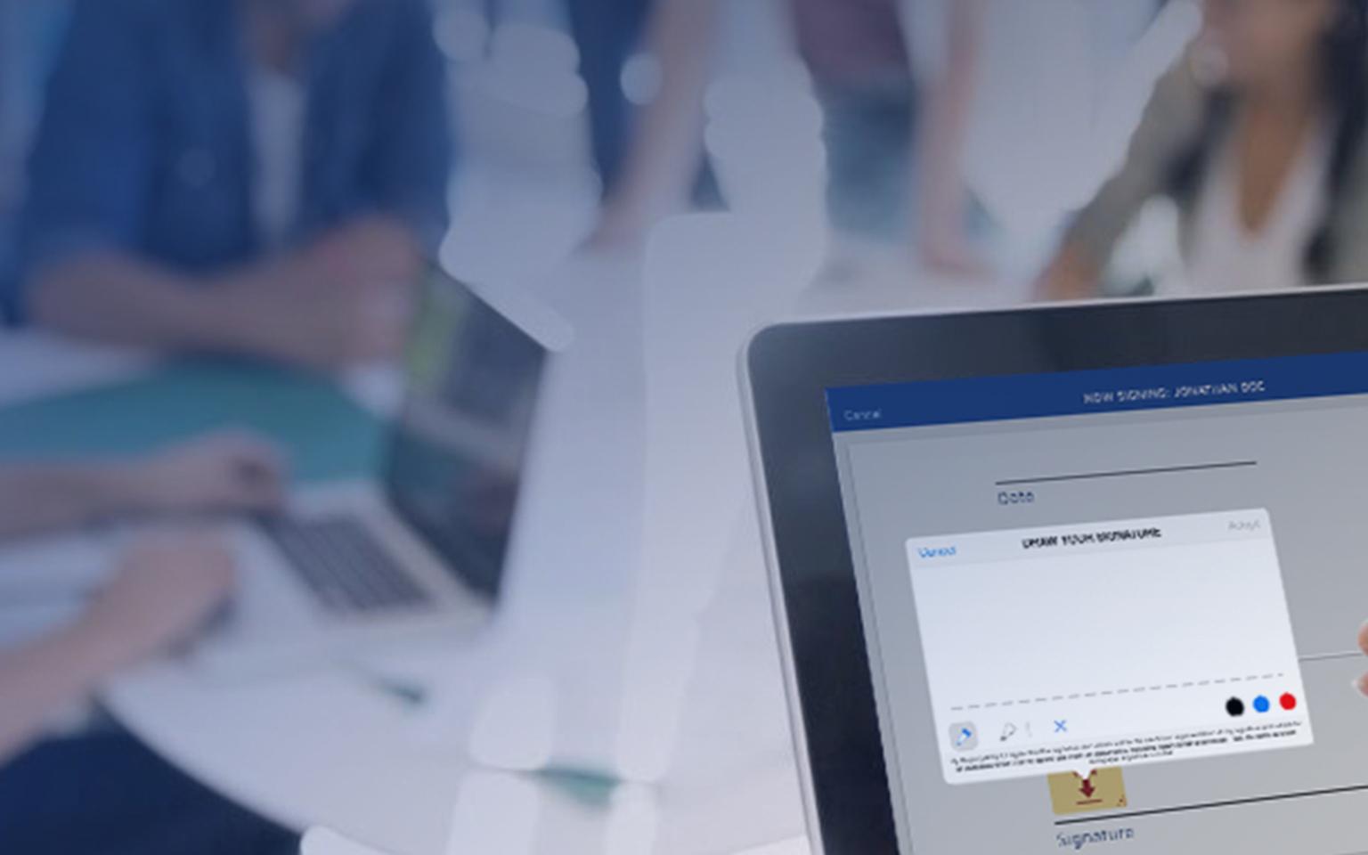 La plateforme de signature électronique de DocuSign sur ordinateur
