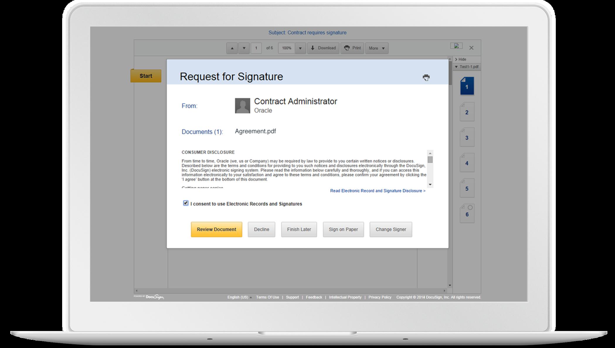 Solutions cloud d´Oracle et signatures électroniques