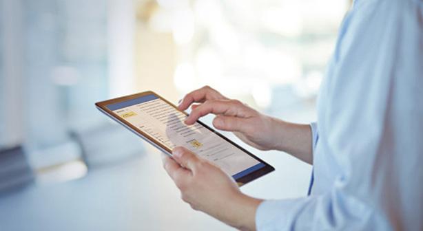 Signature électronique à valeur légale et juridique sur une tablette